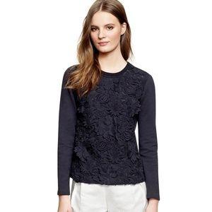 TORY BURCH $275 Floral Maretta Lace Sweatshirt